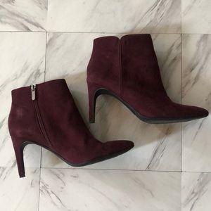 Sam Edelman wine color heeled booties size 8.5